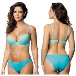 Strój kąpielowy dwuczęściowy bikini ze sztywną miską L-2062/6 v.2, turkus z miętą