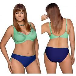 Strój kąpielowy dwuczęściowy bikini z miękką miską na fiszbinach L-6267 v.1 ERICA, zielony z szafirem