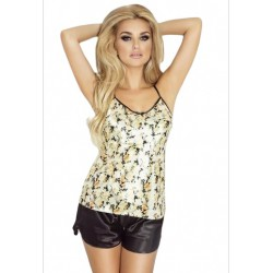 Piżama satynowa MONACO koszulka + szorty