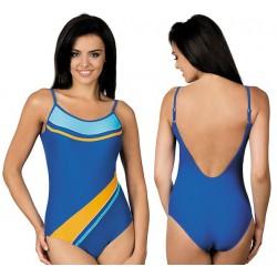 Strój kąpielowy jednoczęściowy basenowy sportowy L-7131 v.1 LO-18, NIEBIESKI