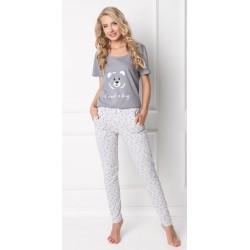Piżama damska Huggy Bear Long Grey Aruelle Homewear