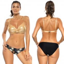 Kostium kąpielowy Nela Nero-Gold M-610 (1)