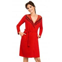 Szlafrok damski Jasmine Red wiskoza Donna