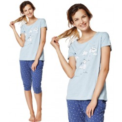Piżama Rakel 35255-50X Niebieska