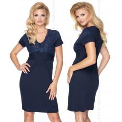 Koszulka nocna Gia Navy Blue Quenn Size Irall