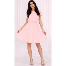 Sukienka plisowana Medesia różowa Merribel