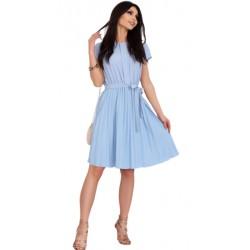 Sukienka plisowana Medesia Błękit Merribel
