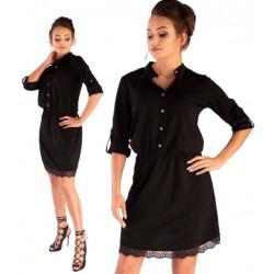 Sukienka Jentyna Black guziki koronka Merribel