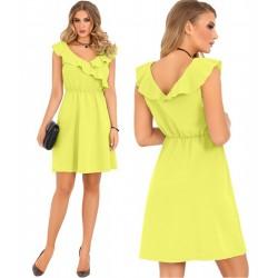Sukienka elegancka Annag żólto-zielona Merribel