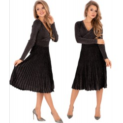 Sukienka Frojene czarno-srebrna Merribel
