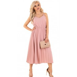Sukienka plisowana Errigam różowa Merribel
