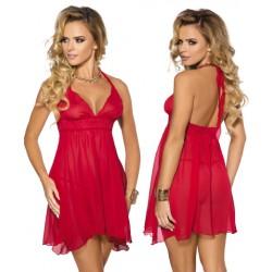 Koszulka nocna Essie + stringi czerwona Anais